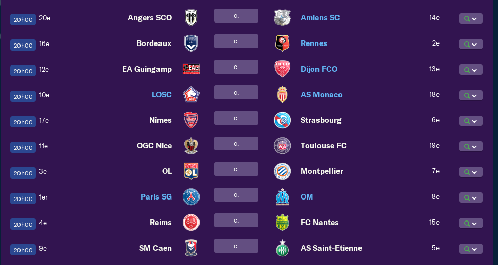 Calendrier Ligue 1 saison 01 2199