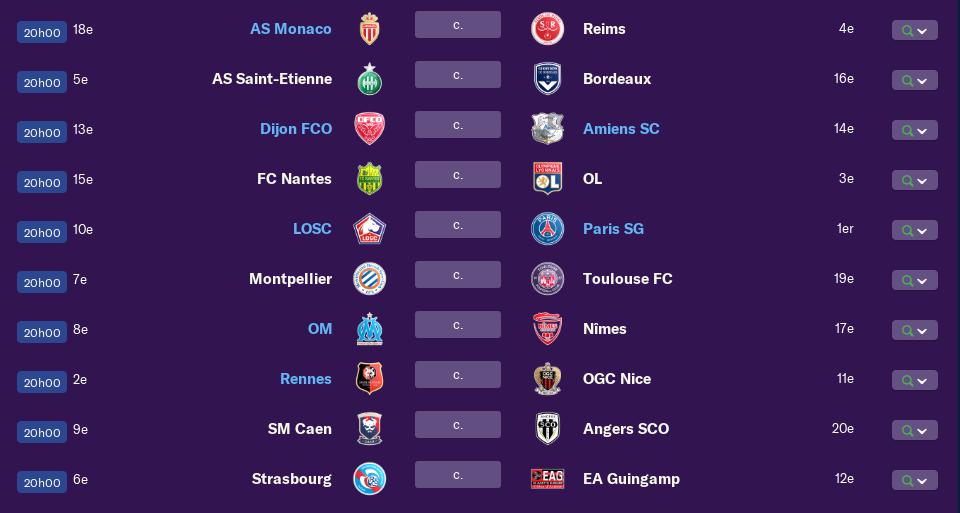 Calendrier Ligue 1 saison 01 2200
