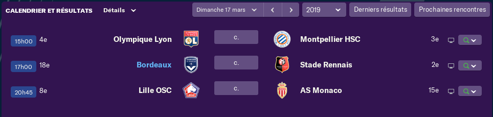 Compositions 29 Journée de Ligue 1 avant Jeudi 12H 2246