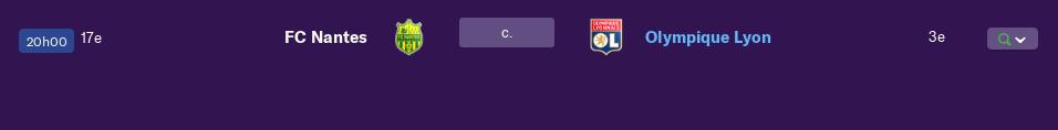 Compositions 32ème journée de Ligue match avancés Lundi 12 h 2264