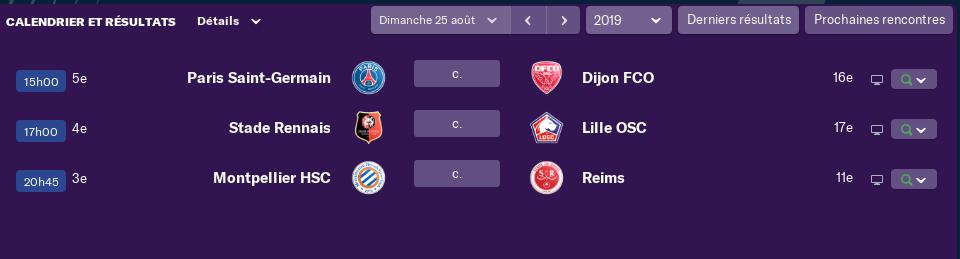 4ème journée de Ligue 1 Lundi 15 H 2320