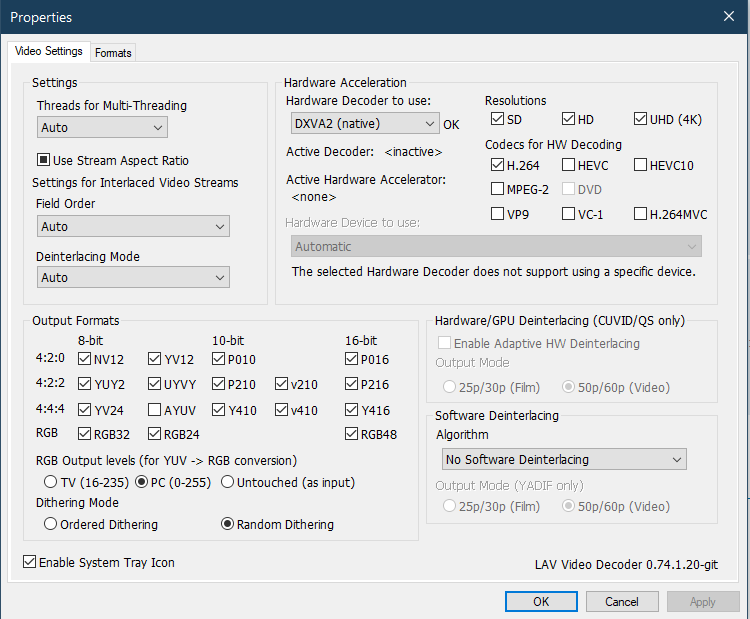 Low FPS + High GPU Usage when playing 4k on MPC-HC Captur10