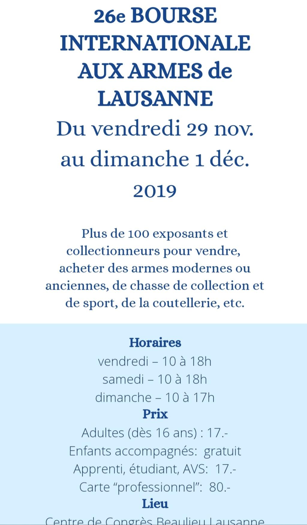 26e bourse aux armes de Lausanne 20191010