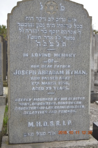 Joseph Abraham Hyman  Tombe11