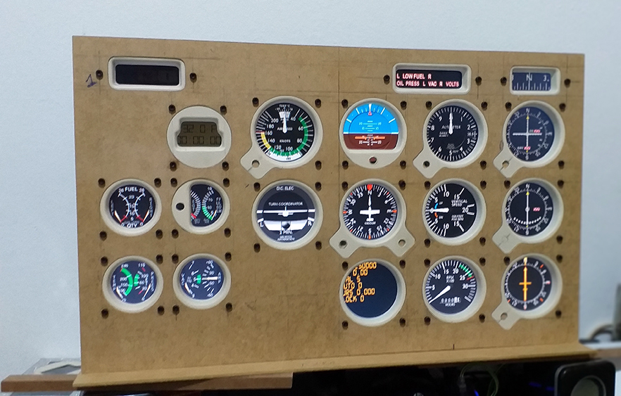Cessna c172 máscara de Monitor - Panel Mask 20191011