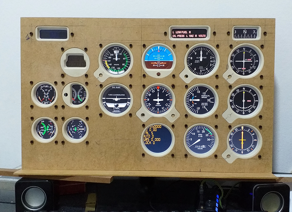 Cessna c172 máscara de Monitor - Panel Mask 20191012