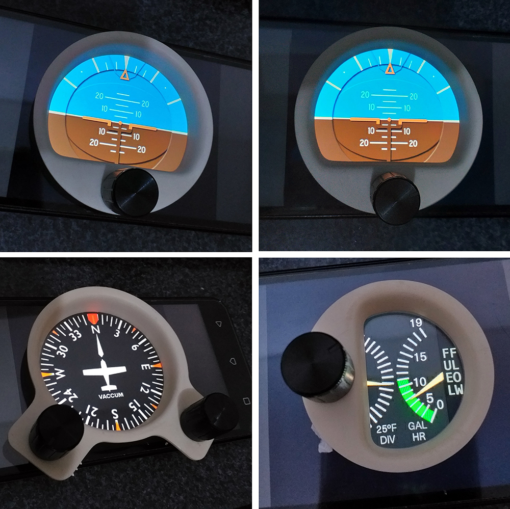 Cessna c172 máscara de Monitor - Panel Mask 610
