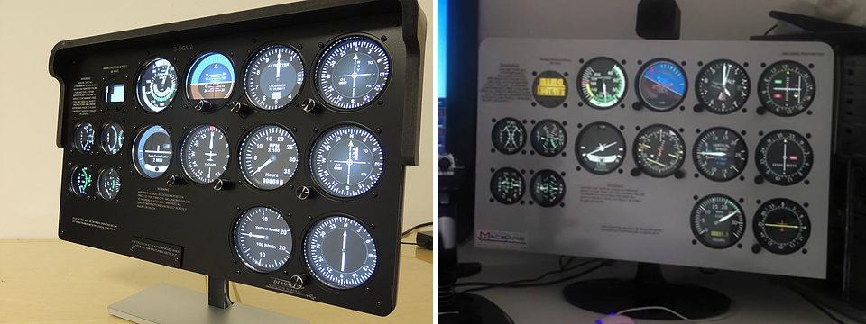 Cessna c172 máscara de Monitor - Panel Mask Asdfas10