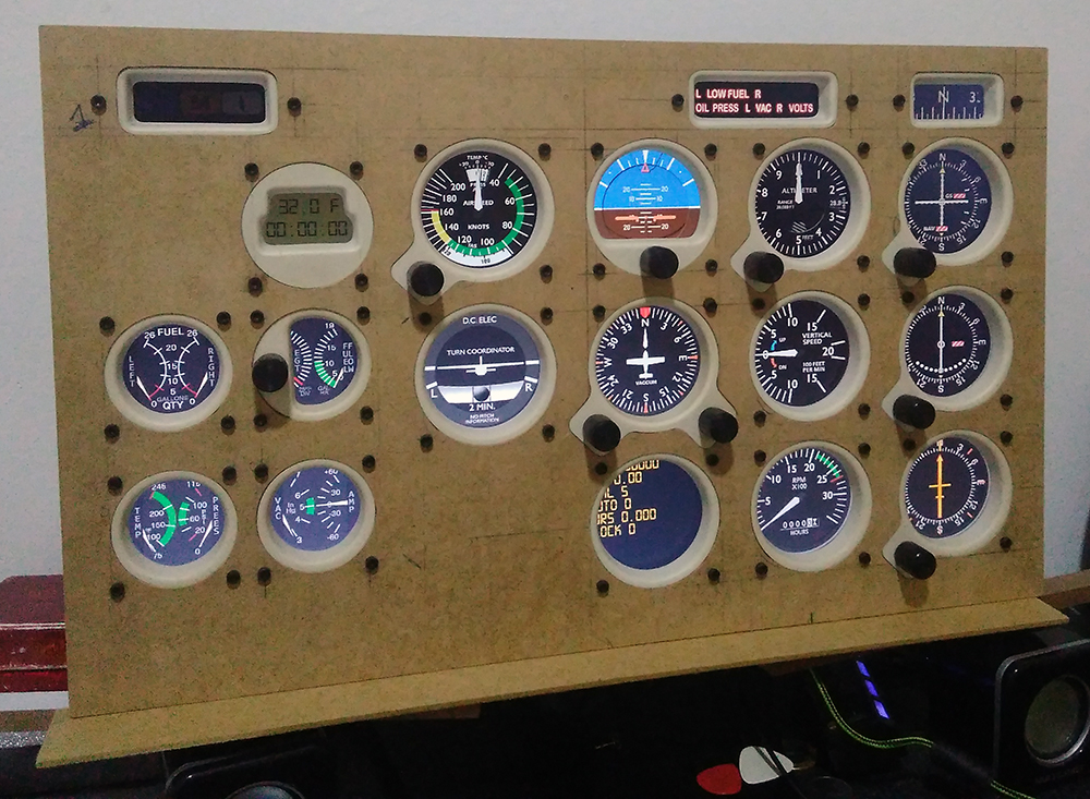 Cessna c172 máscara de Monitor - Panel Mask Img_2018