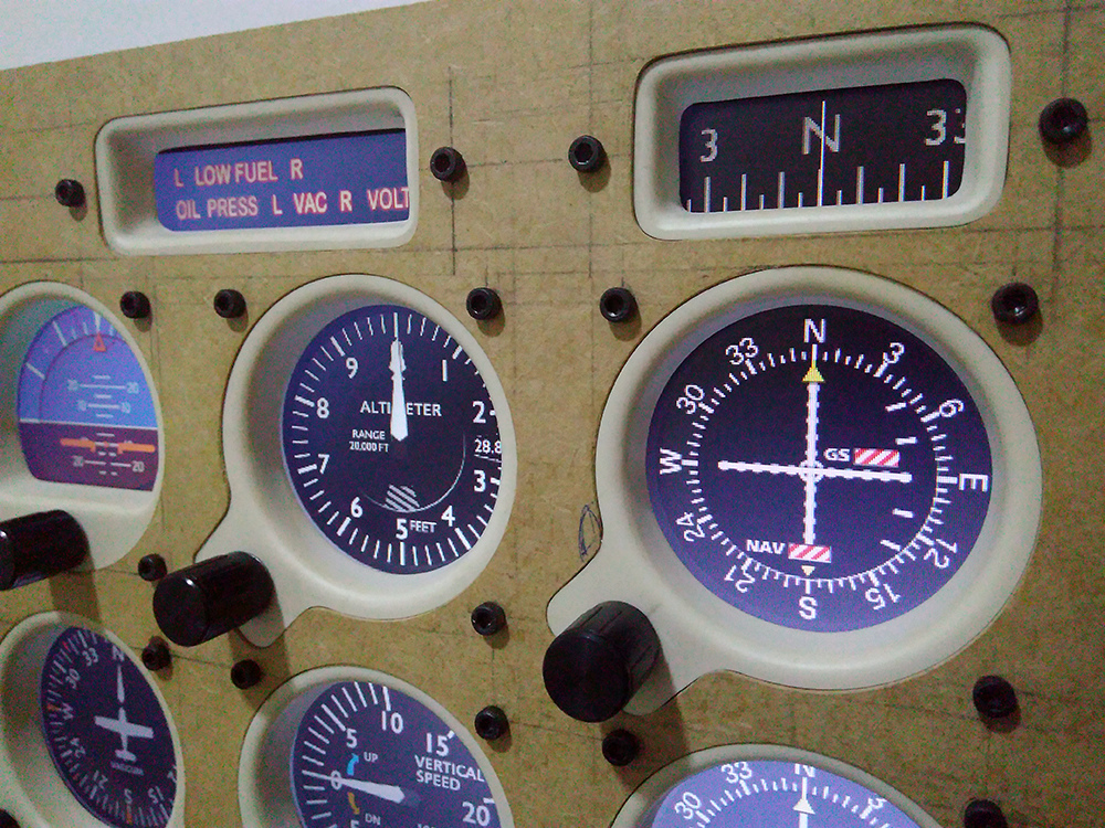 Cessna c172 máscara de Monitor - Panel Mask Img_2019