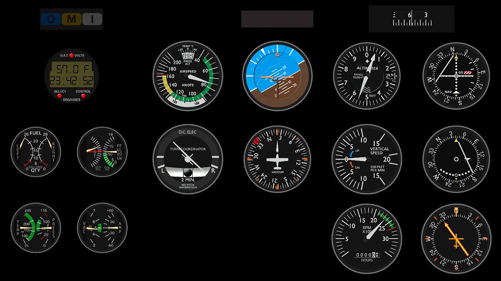 Cessna c172 máscara de Monitor - Panel Mask Untitl14