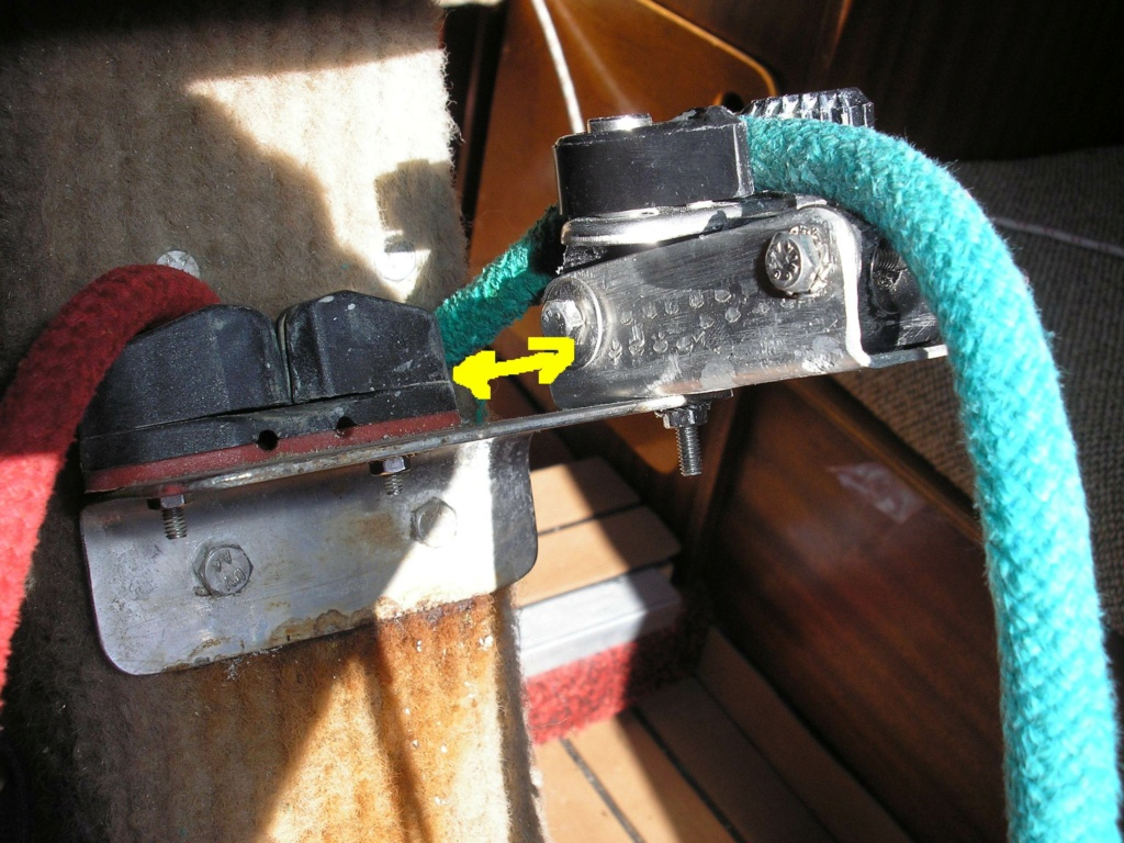Taquet coinceur disjoncteur pour bout de dérive Fusibl11