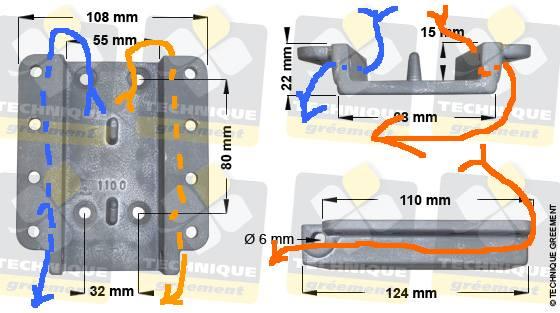 Remplacement de l'embase et du pied de mat Passag10