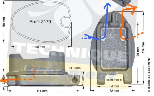 Remplacement de l'embase et du pied de mat Z170_s10
