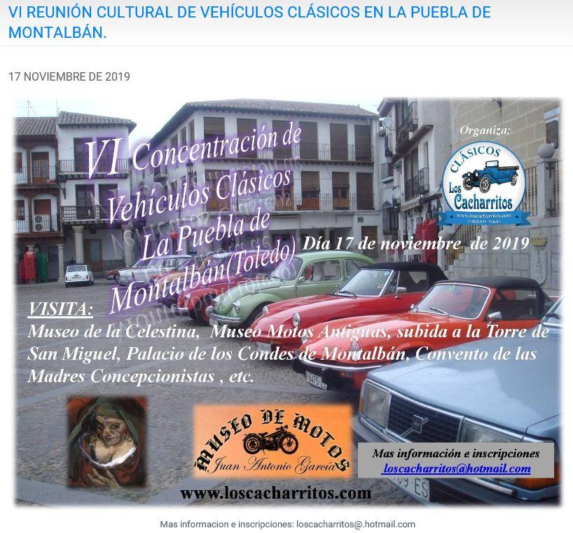 VI REUNIÓN CULTURAL DE VEHÍCULOS CLÁSICOS EN LA PUEBLA DE MONTALBÁN. Loscac12