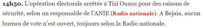 12 de diciembre de 2019: Seguimiento de las elecciones en Argelia Tizi10