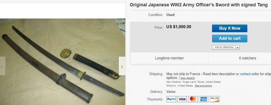 Partage sur les Sabres Shin-gunto 1938 type 98 Captur13