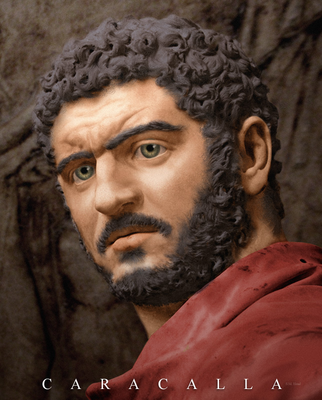 Le vrai visage des empereurs romains (reconstitution) Caraca11