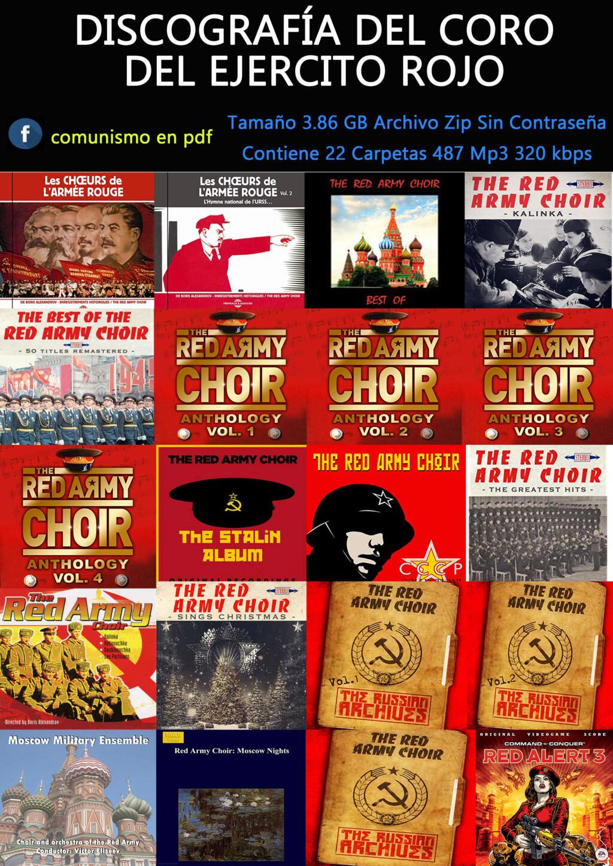 Discografía del Coro del Ejercito Rojo para descargar en archivo comprimido ZIP Coro_d10