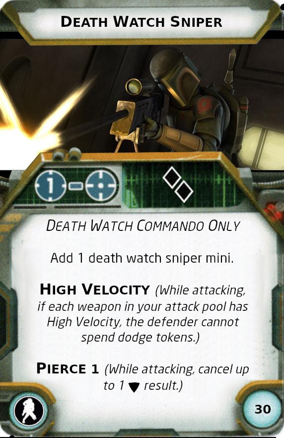 [Legion] Death Watch Custom Cards Sniper10