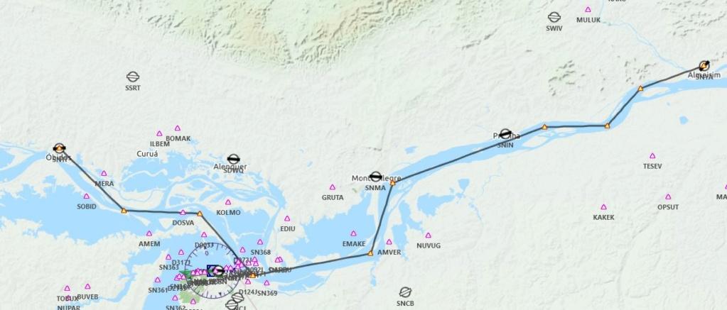 Vol Amazonie de SNTI à SNYA: Parcours n° 3 Plan_d14