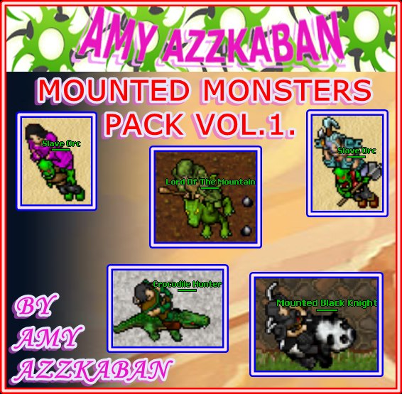 8.7 MOUNTED MONSTERS PACK VOL.1. 57600610