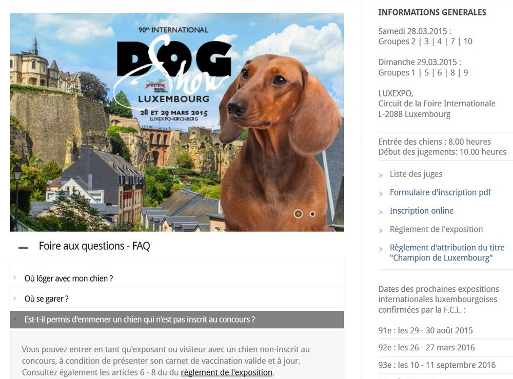 Au kennel club belge Lux12