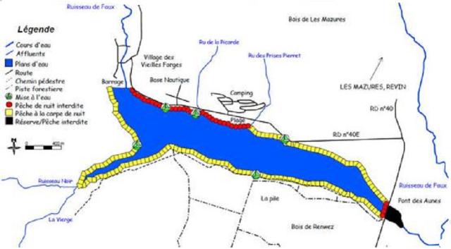 lac des vieilles forges Carte12