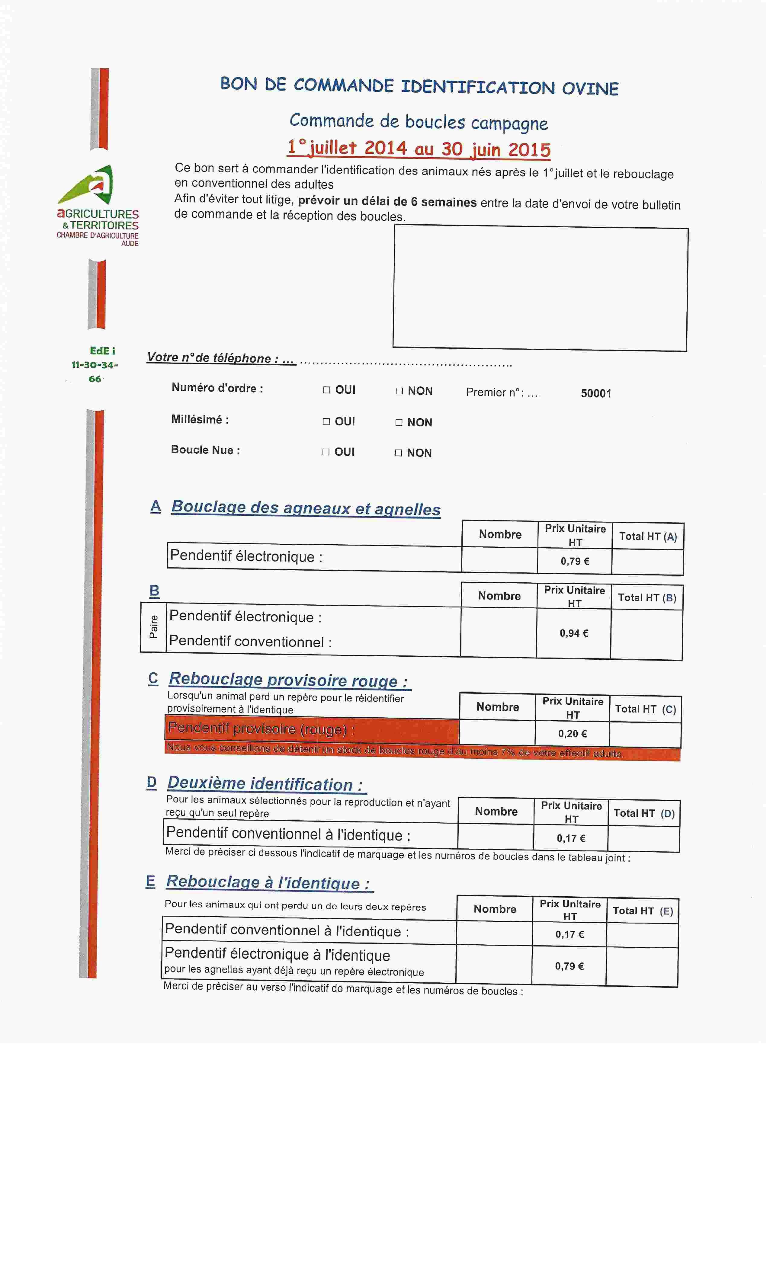 Procédure d'identification - formulaire à l'appui. Scan0011