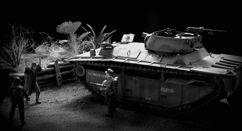 LVT A 4 italeri 1/35 Iwo Jima Imgp5012