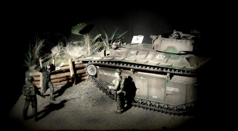 LVT A 4 italeri 1/35 Iwo Jima Imgp5013