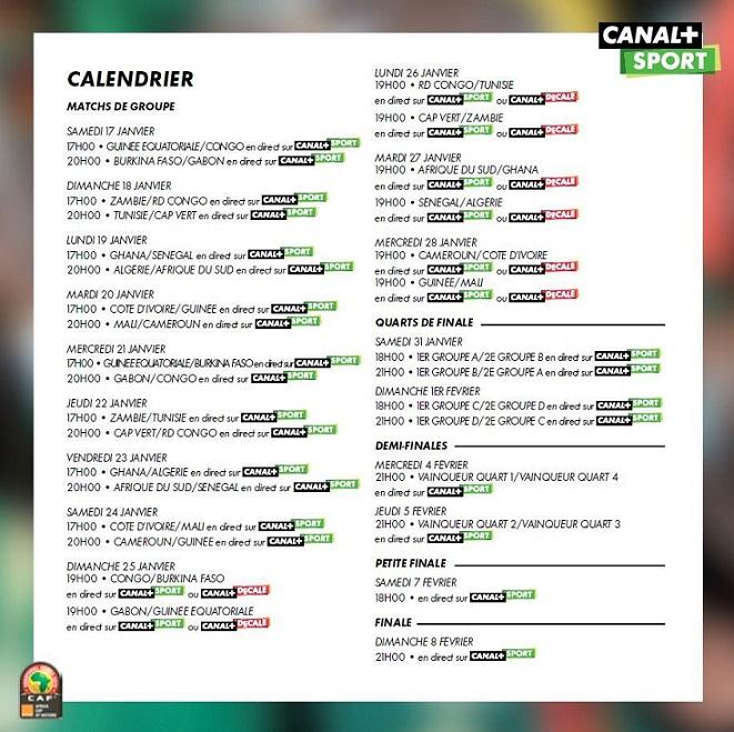 CAN 2015 : Toute la compétition sur Canal + Sport Ob_10510