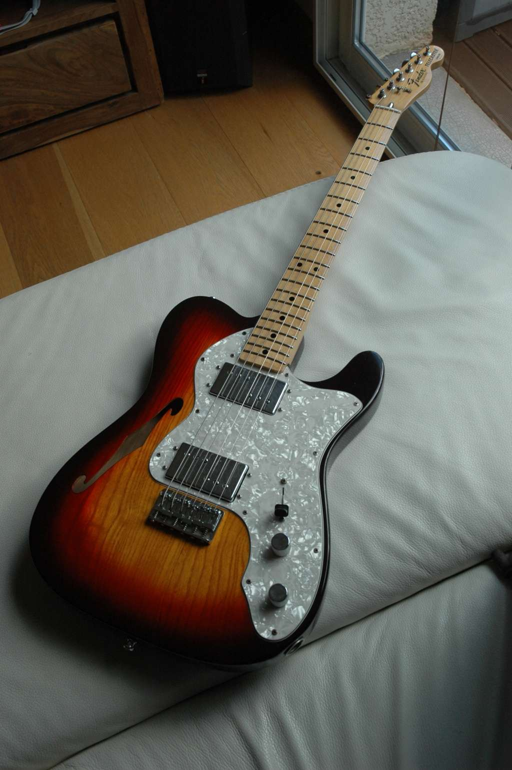fender thinline custom - Une nouvelle robe pour ma Thinline Custom After_12