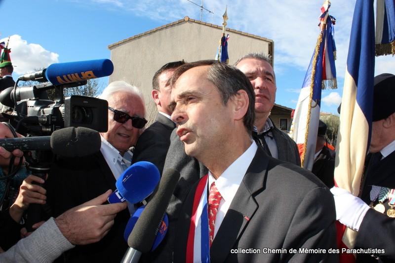 Reportage photo cérémonie inauguration rue commandant de Saint Marc à Béziers 30-img10