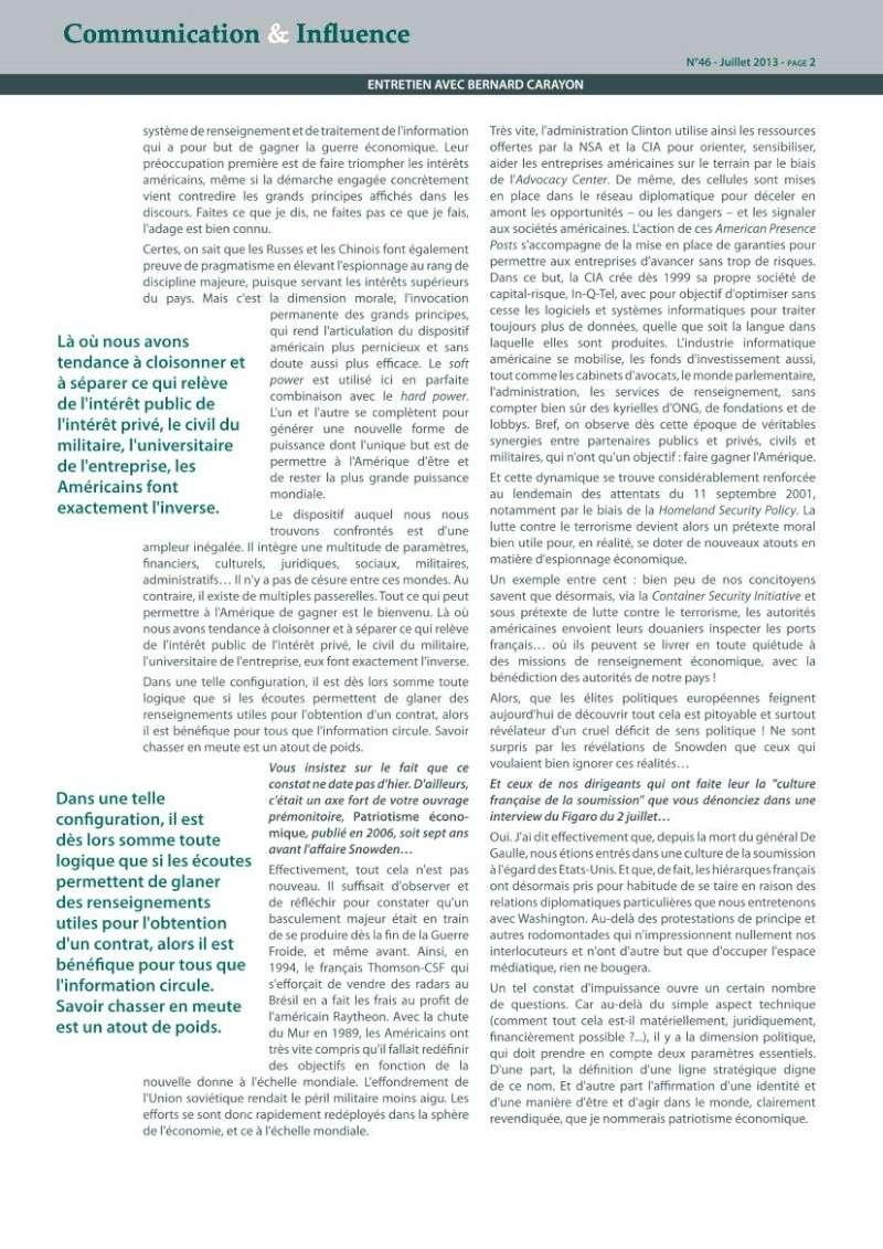Ce que l'affaire Snowden révèle de la guerre économique : le décryptage de Bernard Carayon Carayo11