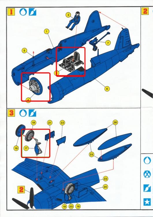 VOUGHT F4U-4 et F4U-7 CORSAIR 1/48ème Réf BOBKIT 53051 & Réf 80415 Notice F4u-4_11