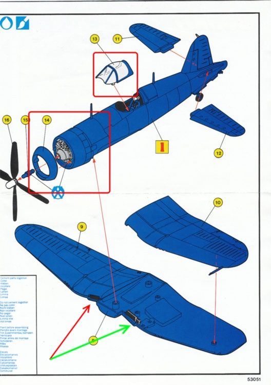 VOUGHT F4U-4 et F4U-7 CORSAIR 1/48ème Réf BOBKIT 53051 & Réf 80415 Notice F4u-4_12