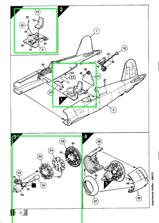 VOUGHT F4U-4 et F4U-7 CORSAIR 1/48ème Réf BOBKIT 53051 & Réf 80415 Notice F4u-7_11