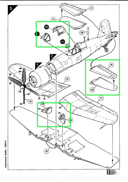 VOUGHT F4U-4 et F4U-7 CORSAIR 1/48ème Réf BOBKIT 53051 & Réf 80415 Notice F4u-7_12