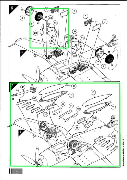 VOUGHT F4U-4 et F4U-7 CORSAIR 1/48ème Réf BOBKIT 53051 & Réf 80415 Notice F4u-7_13