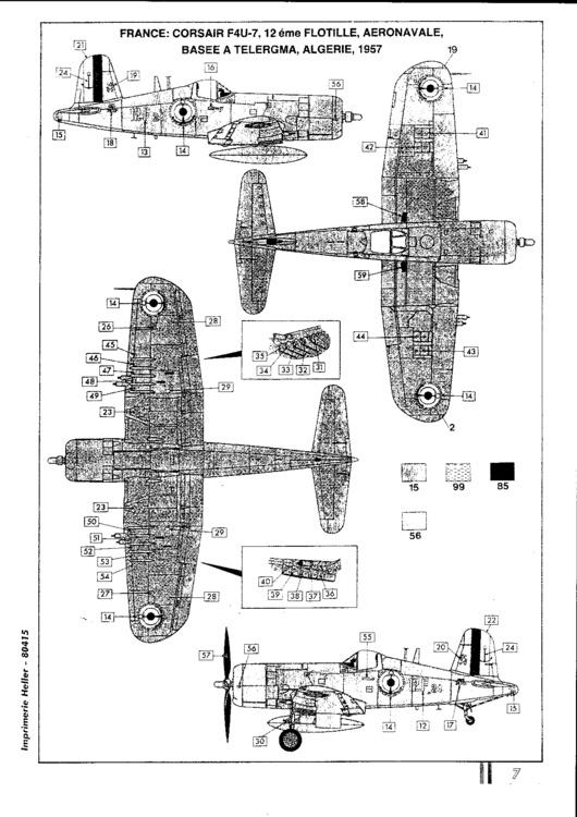VOUGHT F4U-4 et F4U-7 CORSAIR 1/48ème Réf BOBKIT 53051 & Réf 80415 Notice F4u-7_14
