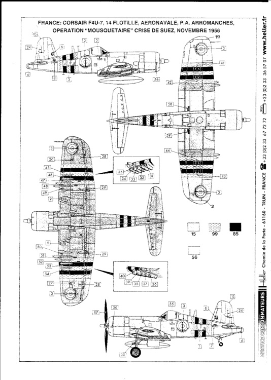 VOUGHT F4U-4 et F4U-7 CORSAIR 1/48ème Réf BOBKIT 53051 & Réf 80415 Notice F4u-7_15