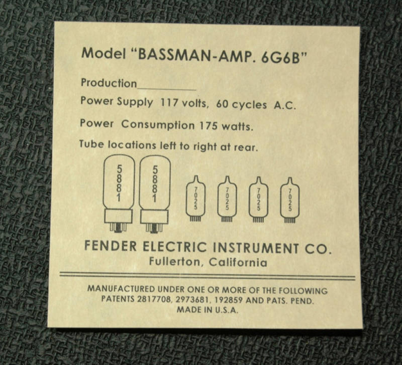"Fender  BASSMAN blond  ""6g6B""  - Page 3 6310"