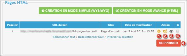 Gestion des pages HTML 05-08-22
