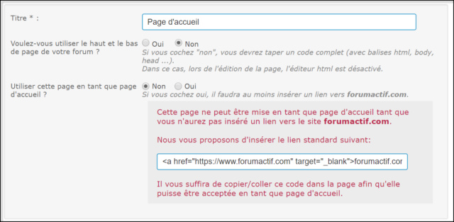 Gestion des pages HTML 05-08-24