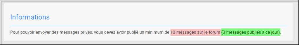 Gestion de la messagerie Privée (MP) 05-08-57