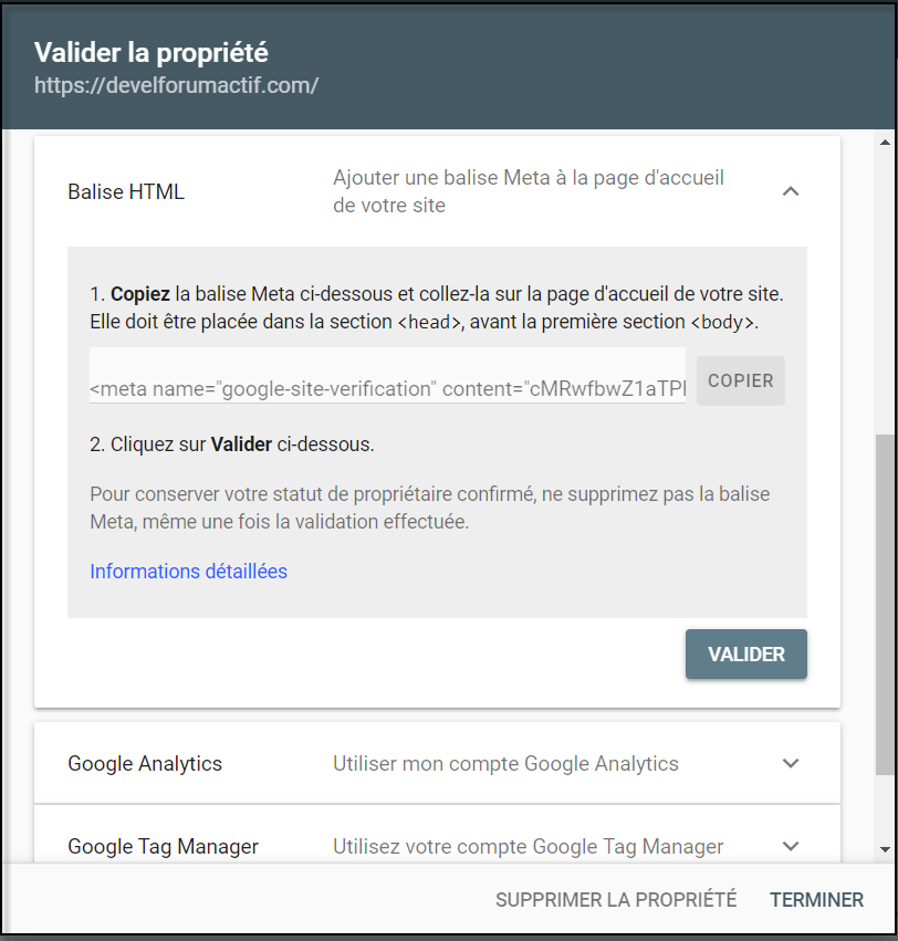 Intégrer Google Search Console sur un Forumactif 13-08-19