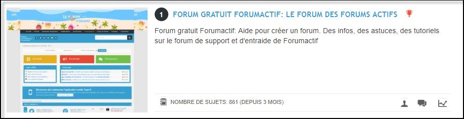Fonctionnement de l'annuaire des forums 17-08-19