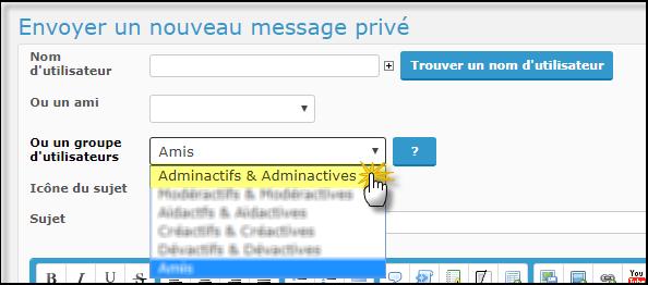 Messages privés (MP) de masse (ou mailing MP) 19-08-36