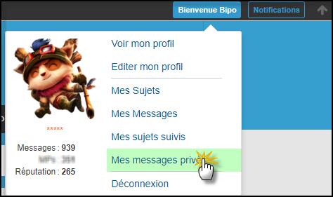 Gestion de la messagerie Privée (MP) 19-08-60